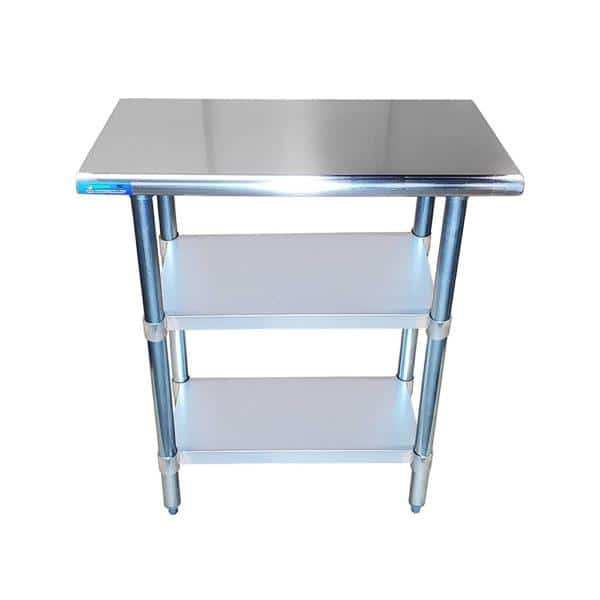 18″ X 24″ Stainless Steel Work Table With Second Undershelf