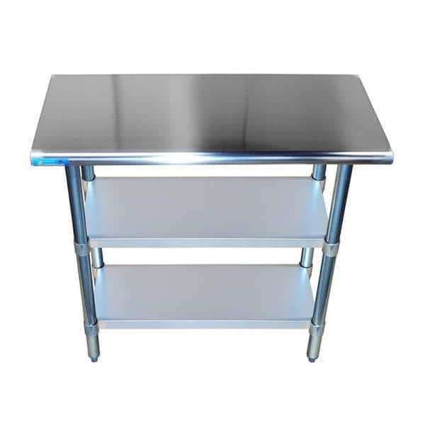 24″ X 30″ Stainless Steel Work Table With Second Undershelf