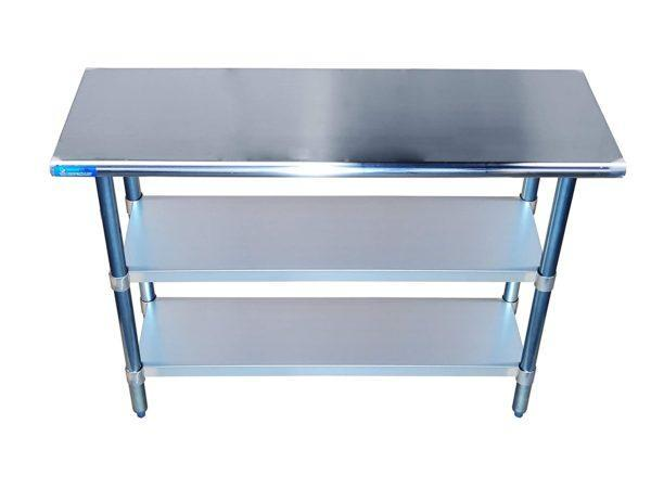 24″ X 48″ Stainless Steel Work Table With Second Undershelf