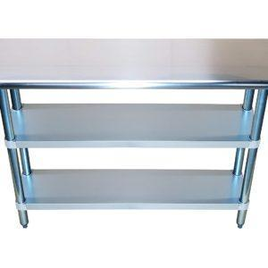 18″ X 84″ Stainless Steel Work Table With Second Undershelf