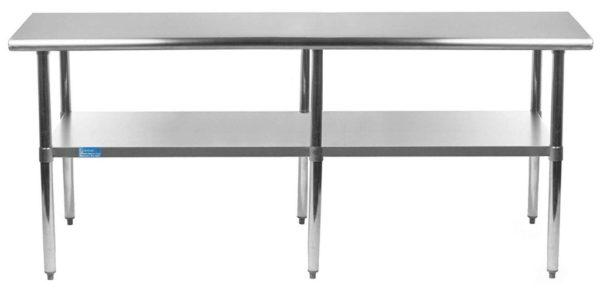 36″ X 96″ Stainless Steel Work Table With Undershelf