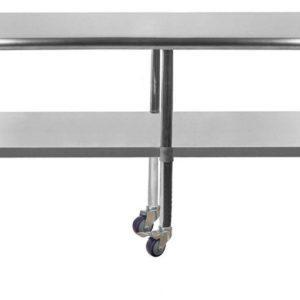 14″ X 84″ Stainless Steel Work Table With Undershelf & Casters