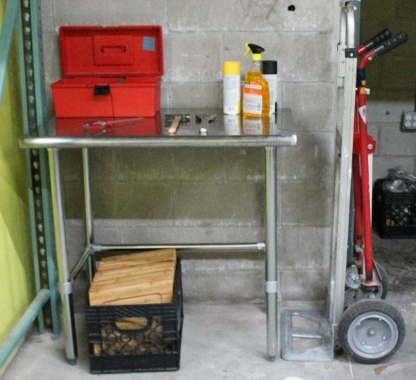 30″ X 15″ Stainless Steel Work Table With Open Base