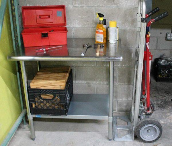 30″ X 96″ Stainless Steel Work Table With Undershelf