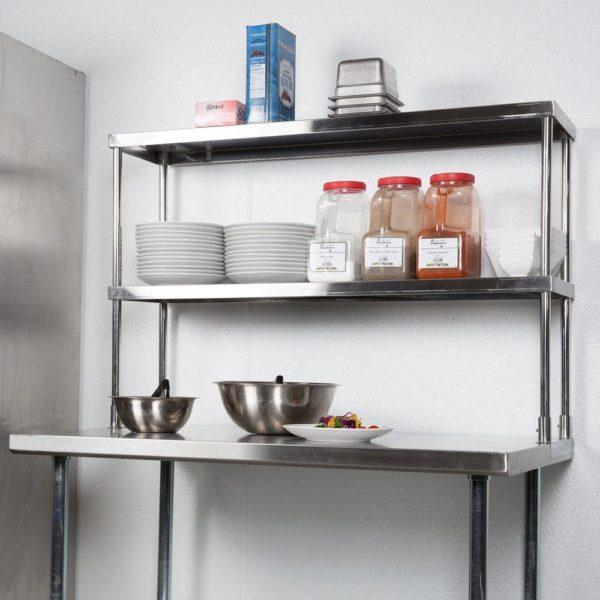 18″ X 36″ Stainless Steel Double-Tier Shelf
