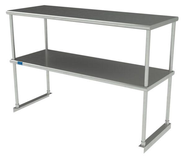 18″ X 48″ Stainless Steel Double-Tier Shelf