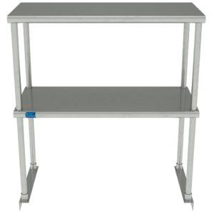 14″ X 30″ Stainless Steel Double-Tier Shelf
