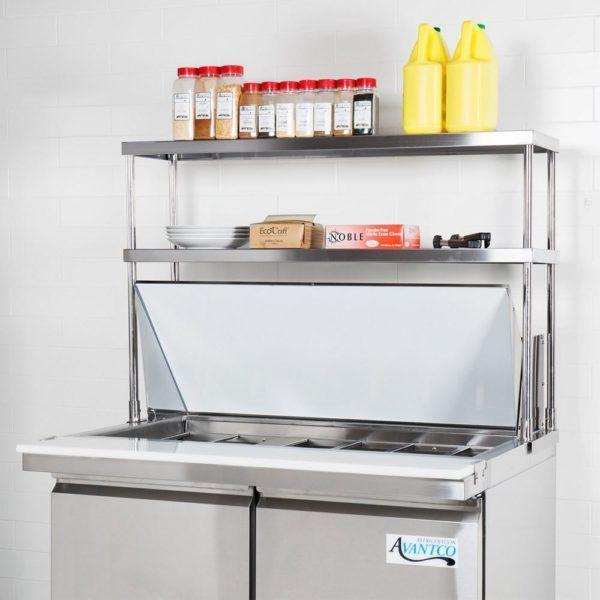 14″ X 24″ Stainless Steel Double-Tier Shelf