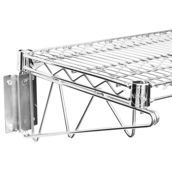 14″ X 36″ Chrome Wire Wall Mount Shelf