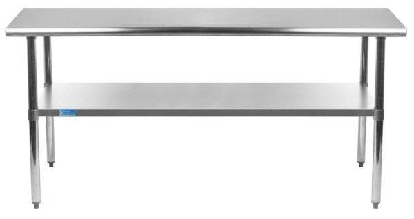 24″ X 60″ Stainless Steel Work Table With Undershelf