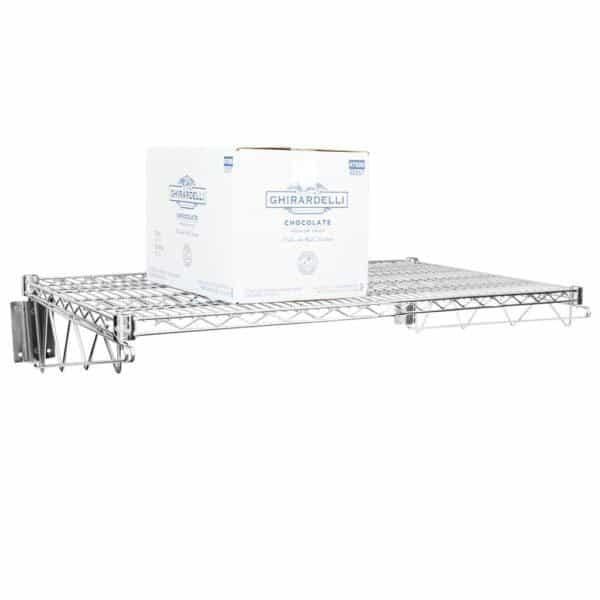 24″ X 36″ Chrome Wire Wall Mount Shelf