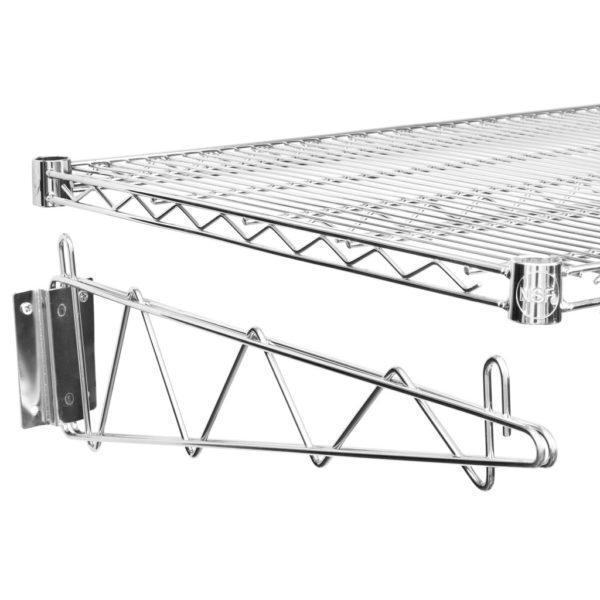 24″ X 24″ Chrome Wire Wall Mount Shelf