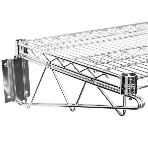 18″ X 60″ Chrome Wire Wall Mount Shelf