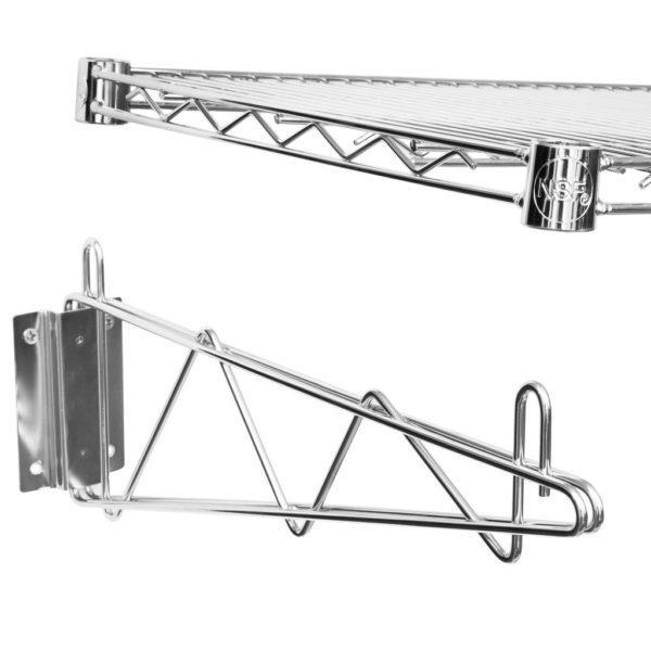 18″ X 48″ Chrome Wire Wall Mount Shelf