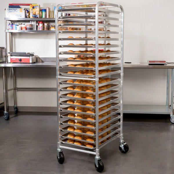 20 Tier Pan Rack – Heavy Duty, Bun Pan Sheet Rack, NSF Certified with Wheels