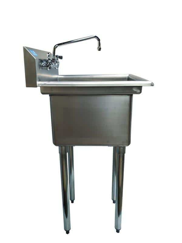 22″ x 20″ Stainless Steel Mopsink with Faucet 10″