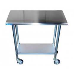 Work Table With Casters