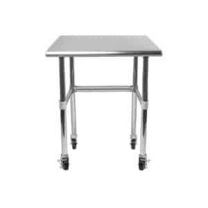 24″ X 24″ Stainless Steel Work Table With Open Base & Casters