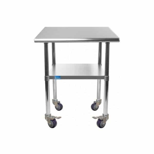 14″ X 24″ Stainless Steel Work Table With Undershelf & Casters