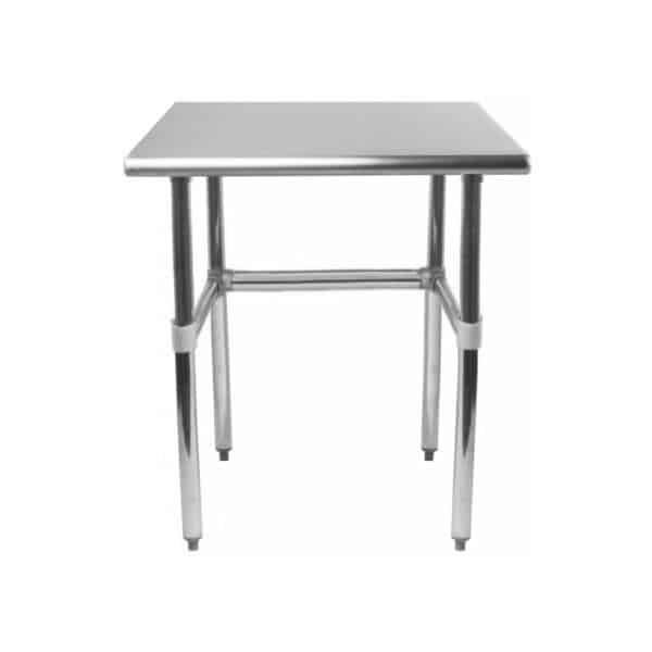 30″ X 24″ Stainless Steel Work Table With Open Base